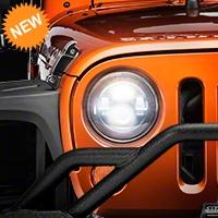 Raxiom Smoked LED Headlights (07-16 Wrangler JK) - Raxiom J103746