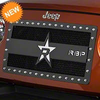 RBP RX-3 Series Studded Grille - Black (07-16 Wrangler JK) - RBP 951483