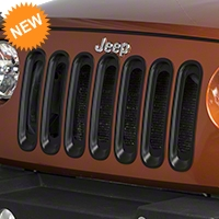 RedRock 4x4 Grille Inserts - Black (07-16 Wrangler JK) - RedRock 4x4 J103873