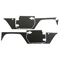 Rugged Ridge Magnetic Protection Panel Kit - Matte Black (07-16 Wrangler JK 2-Door) - Rugged Ridge 12300.52