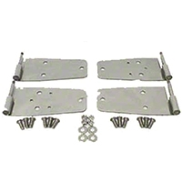 Rugged Ridge 4 Pc Satin Stainless Steel Door Hinge Set (97-06 Wrangler TJ) - Rugged Ridge 7841