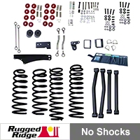 Rugged Ridge 4 In.- 5 In. Lift Kit w/o Shocks (07-13 Wrangler JK) - Rugged Ridge 18401.60