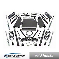 ProComp Suspension 4 in. Dual Sport Long Arm Lift Kit (97-02 Wrangler TJ w/Automatic Trans) - Pro Comp Suspension K3088BMX