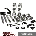 Rough Country 4 in. Lift Kit 4-Door w/ Shocks (07-15 Wrangler JK) - Rough Country 681S