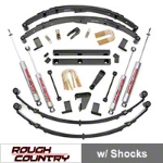 Rough Country 4 in. Suspension Lift Kit w/ Shocks (87-95 Wrangler YJ) - Rough Country 620N2