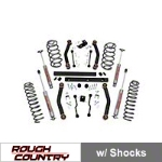 Rough Country 4 in. Lift Kit w/ Shocks (97-02 Wrangler TJ) - Rough Country 906S