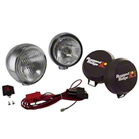 Rugged Ridge 2 HID Offroad Fog Lights, Stainless Steel, 5 in. Round (Universal Application) - Rugged Ridge 15206.52