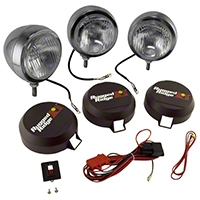 Rugged Ridge 3 HID Offroad Fog Lights, Stainless Steel, 5 in. Round (Universal Application) - Rugged Ridge 15206.62