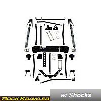 Rock Krawler 5.5 In. X Factor Plus Coil Over Long Arm, Stretch System (07 Wrangler JK 2 Door) - Rock Krawler RKJKCOMP55S