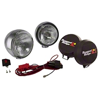 Rugged Ridge 2 HID Offroad Fog Lights, Stainless Steel, 6 in. Round (Universal Application) - Rugged Ridge 15206.51