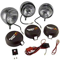 Rugged Ridge 3 HID Offroad Fog Lights, Stainless Steel, 6 in. Round (Universal Application) - Rugged Ridge 15206.61
