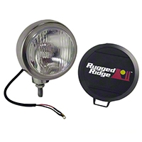 Rugged Ridge HID Offroad Fog Light, Stainless Steel, 6 in. Round (Universal Application) - Rugged Ridge 15206.01