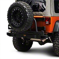 Body Armor 63 in. Rear Bumper w/ Spindle (07-15 Wrangler JK) - Body Armor JK-2393