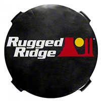 Rugged Ridge 7 inch Smoked HID Off Road Light Covers (Universal Application) - Rugged Ridge 15210.51