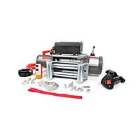 Rough Country 9500lb. Electric Winch w/Wire Rope & Free Wireless Remote (Universal Application) - Rough Country RS9500