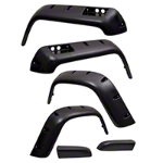 Rugged Ridge All Terrain 6 Piece Fender Flare Kit (87-95 Wrangler YJ) - Rugged Ridge 11632.1
