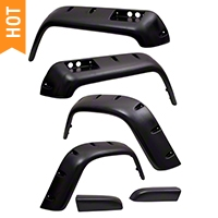 Rugged Ridge All Terrain 6 Piece Fender Flare Kit (87-95 Wrangler YJ) - Rugged Ridge 11632.10