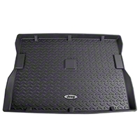 Rugged Ridge All Terrain Cargo Liner, Black, Jeep Logo (87-95 Wrangler YJ) - Rugged Ridge 12975.22