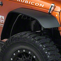 Rugged Ridge A/T Flat Fender Flare Kit, 4 Piece (07-15 Wrangler JK) - Rugged Ridge 11620.10