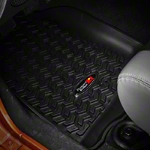 Rugged Ridge All Terrain Floor Liner Kit -1st & 2nd Row, Black (07-13 Wrangler JK 4 Door) - Rugged Ridge 12987.01