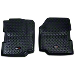 Rugged Ridge All Terrain Floor Liner - Front Pair, Black (87-95 Wrangler YJ) - Rugged Ridge 12920.21||12920.21
