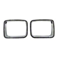 Omix-Ada Bezel Headlight - Pair, Chrome (87-95 Wrangler YJ) - Omix-ADA 12419.05