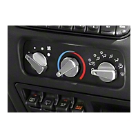 Rugged Ridge Billet Aluminum 3 Piece Climate Control Knob Set w/Red Indicators (97-06 Wrangler TJ) - Rugged Ridge 11420.04