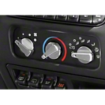 Rugged Ridge Billet Aluminum 3 Piece Climate Control Knob Set w/ Red Indicators (97-06 Wrangler TJ) - Rugged Ridge 11420.04