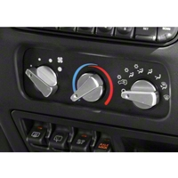 Rugged Ridge Billet Aluminum 3 Piece Climate Control Knob Set w/Blue Indicators(97-06 Wrangler TJ) - Rugged Ridge 11420.03