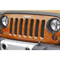Rugged Ridge Billet Grille Insert Screen, Gloss Black (07-13 Wrangler JK) - Rugged Ridge 11401.31