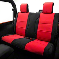 Rugged Ridge Rear Seat Cover - Black/Red (07-13 Wrangler JK 2 Door) - Rugged Ridge 13265.53