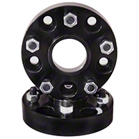 Rugged Ridge Black 1.5 in. Wheel Spacer Kit (87-06 Wrangler YJ & TJ w/5x4.5 Bolt Pattern) - Rugged Ridge 15201.08