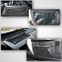 Rugged Ridge Black 5 Piece Interior Mesh Storage Net Kit (97-06 Wrangler TJ) - Rugged Ridge 12495.11