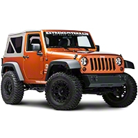 Rugged Ridge Black 8 Piece Euro Guard Light Kit w/o fog guards (07-14 Wrangler JK) - Rugged Ridge 12496.03
