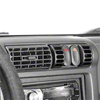 Rugged Ridge Black AC Vent Switch Pod Kit (97-06 Wrangler TJ) - Rugged Ridge 17235.8