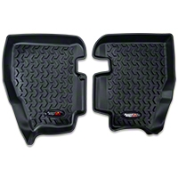 Rugged Ridge Rear Floor Liner - Rear Pair, Black (97-06 Wrangler TJ) - Rugged Ridge 12950.1