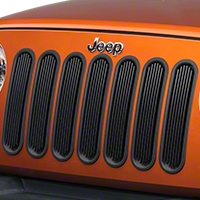 Rugged Ridge Black Billet Aluminum Grille Inserts (07-14 Wrangler JK) - Rugged Ridge 11401.3||11401.3