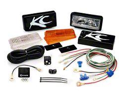 KC Hilites Series 26 Lights, All Season, Black (87-16 Wrangler YJ, TJ & JK)
