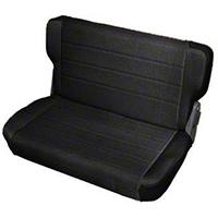 Smittybilt Standard Rear Seat Vinyl, Black Denim (87-95 Wrangler YJ) - Smittybilt 8015N