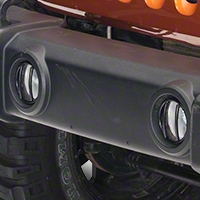 Rugged Ridge Black Euro Guard Fog Light Covers - Pair (07-13 Wrangler JK) - Rugged Ridge 11231.13