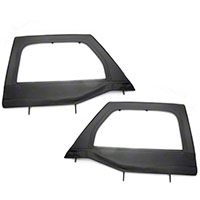 Rugged Ridge Black Front Upper Soft Doors - Pair (07-13 Wrangler JK) - Rugged Ridge 13711.15