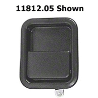 Omix-ADA Black Full Steel Door Paddle Handle (87-95 Wrangler YJ LH, 97-06 Wrangler TJ RH) - Omix-ADA 11812.05||11812.05