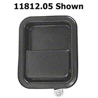 Omix-ADA Black Full Steel Door Paddle Handle (87-95 Wrangler YJ RH, 97-06 Wrangler TJ LH) - Omix-ADA 11812.06