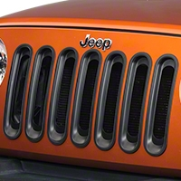 Rugged Ridge Black Grill Insert Set (07-14 Wrangler JK) - Rugged Ridge 11306.3||11306.3