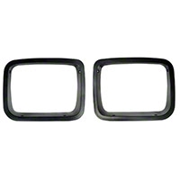 Rugged Ridge Black Head Light Bezel Pair (87-95 Wrangler YJ) - Rugged Ridge 12419.24