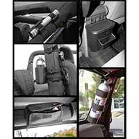 Rugged Ridge Black Interior Storage Kit, 5 Piece (07-10 Wrangler JK) - Rugged Ridge 12496.15