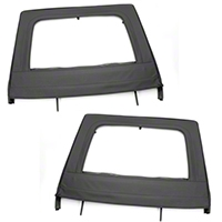 Rugged Ridge Black Rear Upper Soft Doors - Pair (07-13 Wrangler JK) - Rugged Ridge 13712.15