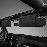 Rugged Ridge Black Sun Visor Organizer - Pair (10-15 Wrangler JK) - Rugged Ridge 13305.08