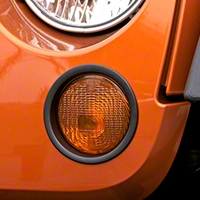 Rugged Ridge Black Turn Signal Lamp Trim (07-13 Wrangler JK) - Rugged Ridge 12419.26