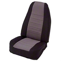 Smittybilt Custom Fit Neoprene Front Seat Covers, Black/Gray (91-95 Wrangler YJ) - Smittybilt 47222